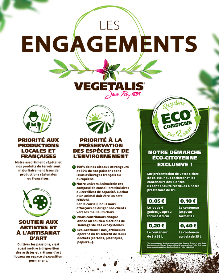 Les engagements Vegetalis