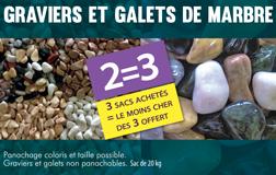 GRAVIERS ET GALETS DE MARBRE