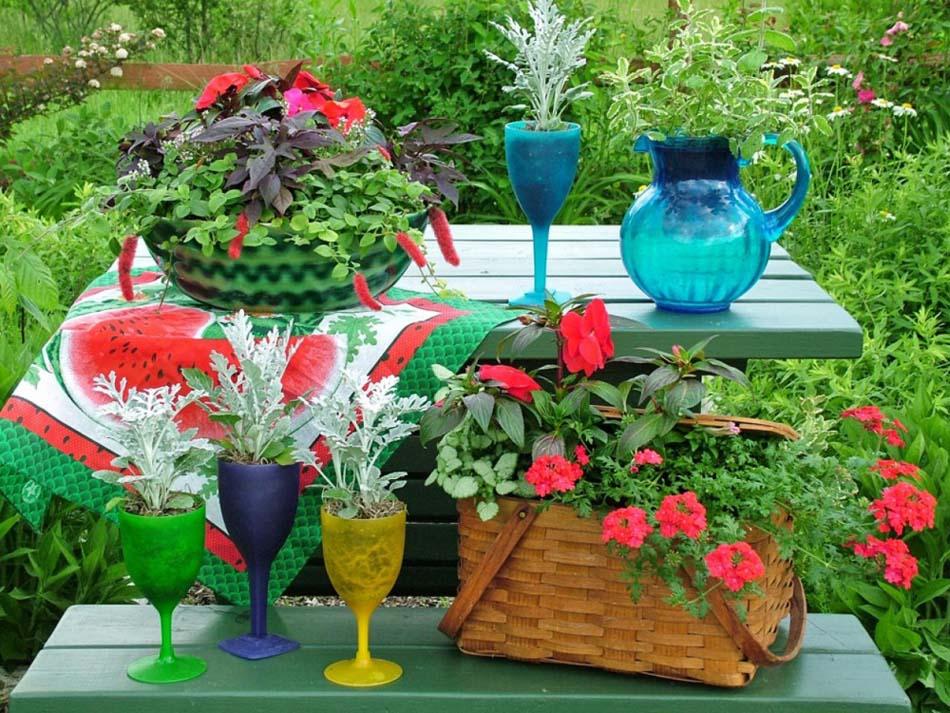 reconversion-anciens-verres-pots-de-fleurs